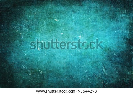 Bluish green colored grunge texture or background with space for text or image