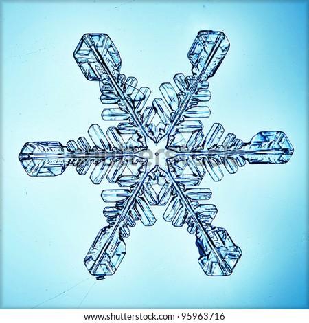 ice crystal snowflake macro #95963716