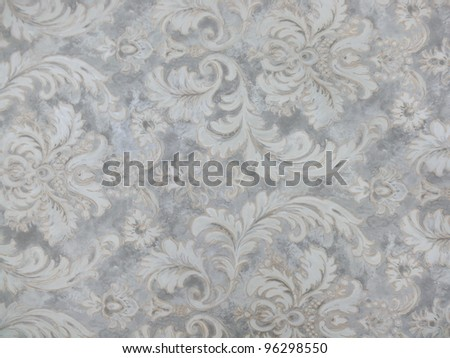 Beautiful, elegant geometric and floral decorative background in grey, silver and white. Ideal for oriental, decorative, interior and abstract design.