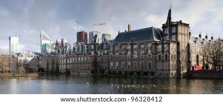Den Haag. Dutch Parliament. Panoramic composition. #96328412