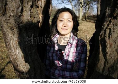 Portrait asian woman looking the camera #96369038