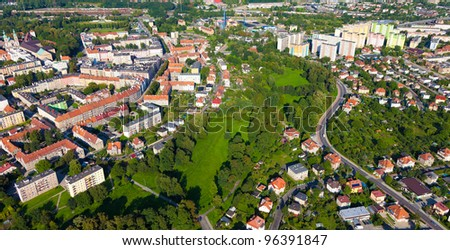 Nysa city  aerial view #96391847