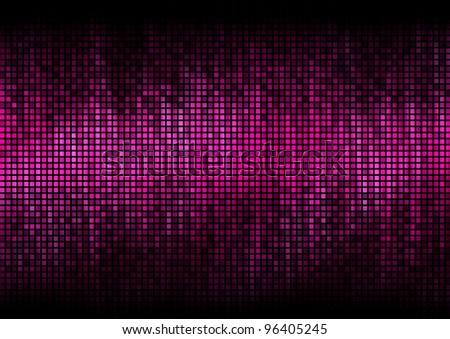 Digital equalizer color pixels amplitude level display disco effect