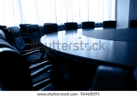 Conference table and chairs in meeting room #96468095