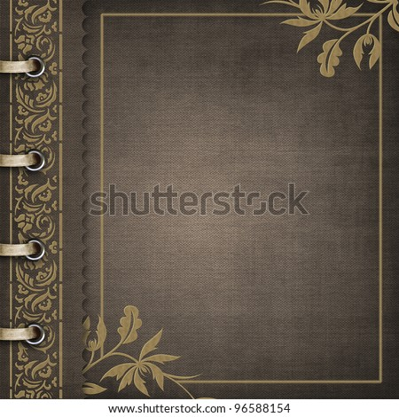 Brown cover for an album with photos