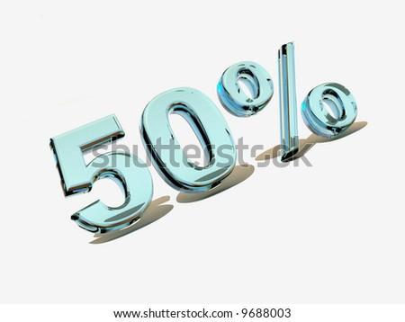 50 percent. Ice. 3d #9688003