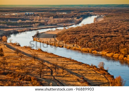 odra  aerial view Royalty-Free Stock Photo #96889903
