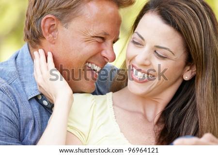 Romantic couple outdoors #96964121