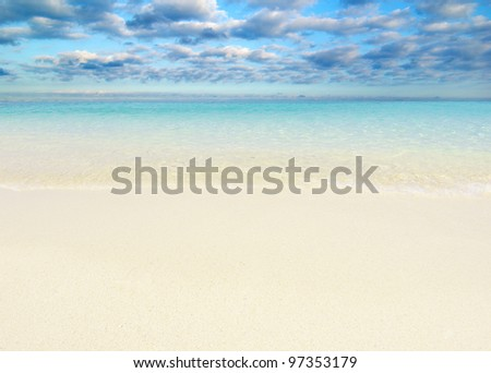 beautiful beach and tropical sea #97353179