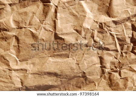 Crumpled paper bag #97398164