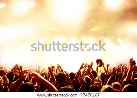 cheering crowd at concert #97470167