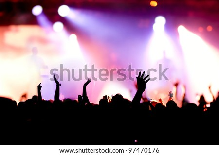 cheering crowd at concert #97470176