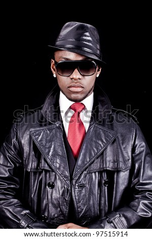 Black men rap cool glasses #97515914