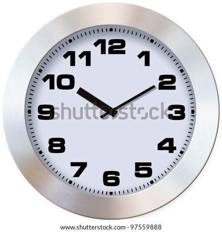 Close-up photo wall clock on a white background #97559888