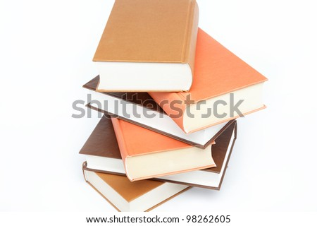 A stack of books on a white background. #98262605