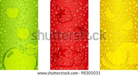 Fresh Juicy fruits background designs #98305031