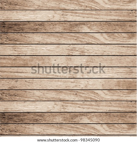 Vector wood plank background Royalty-Free Stock Photo #98345090
