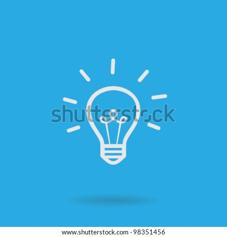 Light bulb vector icon Royalty-Free Stock Photo #98351456