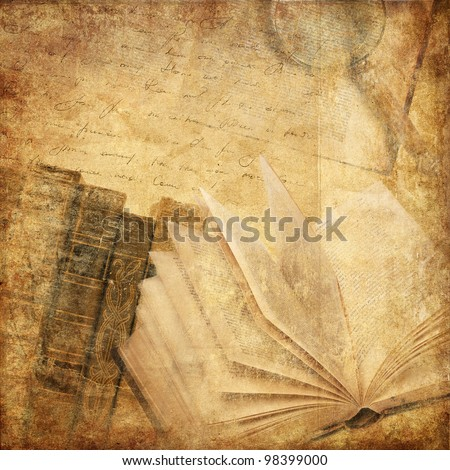 vintage background with old books