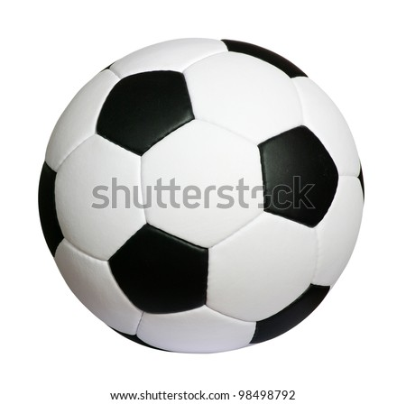 soccer ball isolated on white Royalty-Free Stock Photo #98498792