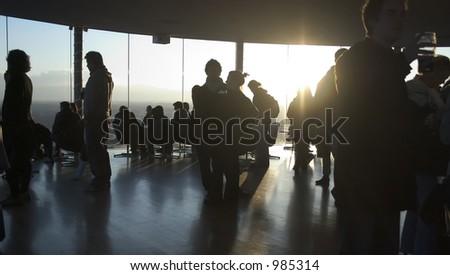 Silhouetted bar scene #985314