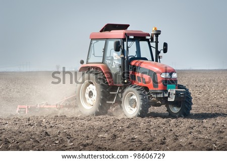 preparing land for sowing in spring #98606729