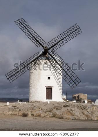 Windmills in Consuegra village. Toledo.  Spain #98902379