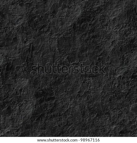 Black stucco seamless background.