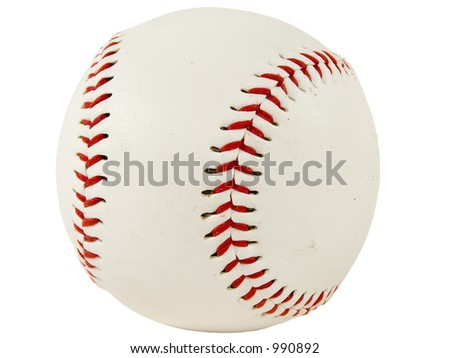 Isolated shot of a baseball #990892