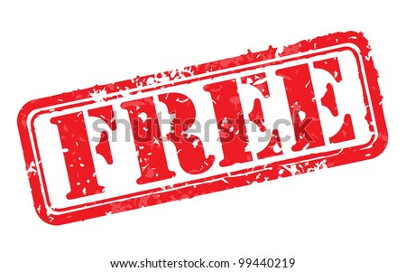 Free rubber stamp vector illustration. Contains original brushes
