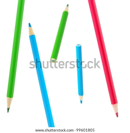 Color pencils isolated on a white #99601805