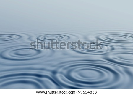 At a water surface are shown circles. #99654833
