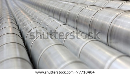 industrial twisted galvanized pipes for ventilation and cooling #99718484