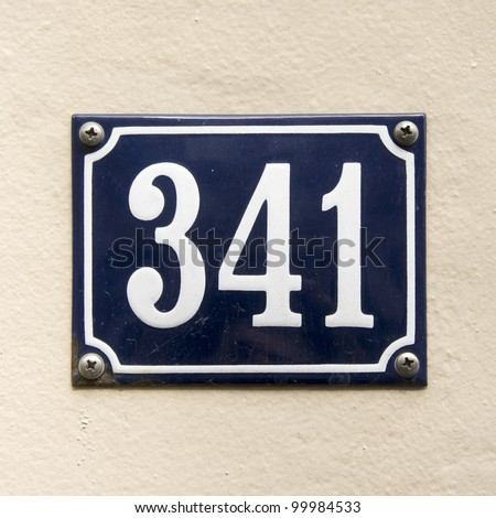 house number 341