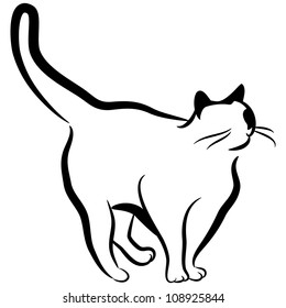 An image of an abstract elegant cat.