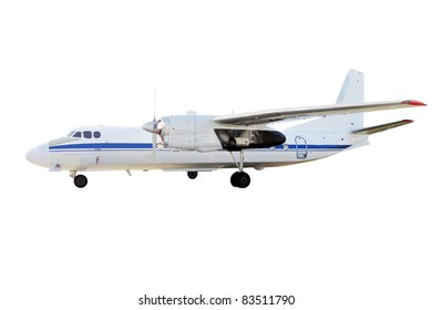 The image of an airplane under the white background