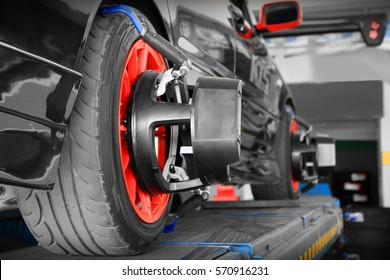 Image Alignment Car Wheel