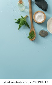 image of aloe vera with cream and salt