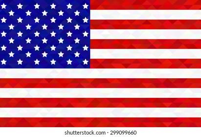 image of american flag in crystal