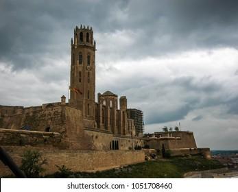 Image of Ancient Lerida castle in Lerida, Catalunya in Spain