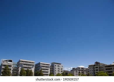 An image of apartment buildings in Makuhari Baytown, Chiba, japan