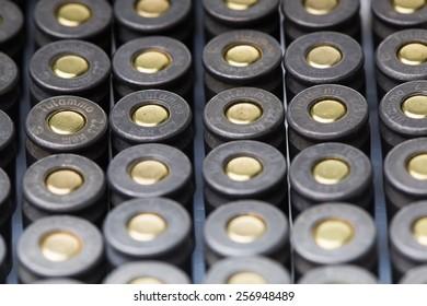 an image of ar15 m16 m4 kalashnikov cartridges upside down