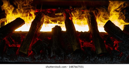 Image of an artificial fireplace.