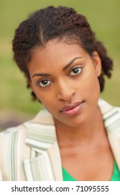 Image of an attractive black businesswoman