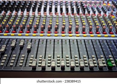 image of audio control desk