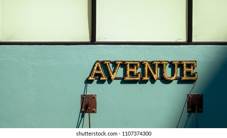 An image of a avenue neon light