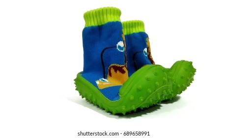 Image of baby walking shoe taken by mobile phone camera