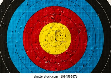 image background,archery target with arrow holes