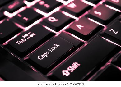 image of a backlit keyboard
