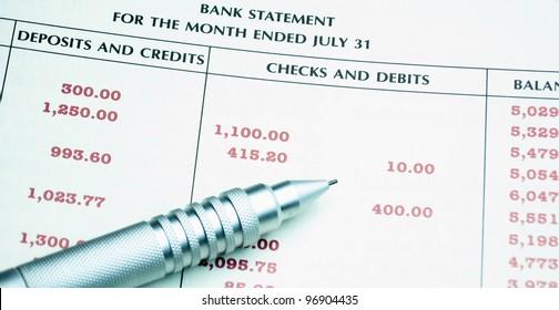 Image of Bank Statement, deposits, credits